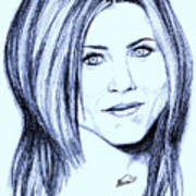 Speed Drawing Of Jennifer Aniston  Art Print