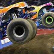 Speeding Tires Art Print