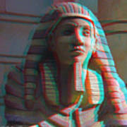Sphinx - Use Red-cyan 3d Glasses Art Print