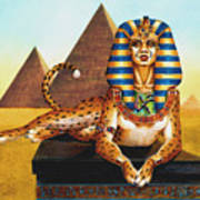 Sphinx On Plinth Art Print
