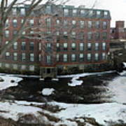 Spicket River Dam Condos Art Print