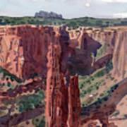 Spider Rock Overlook Art Print