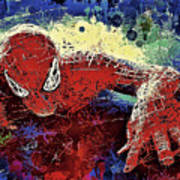 Spiderman Climbing  Art Print