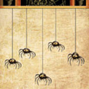 Spiders For Halloween Art Print