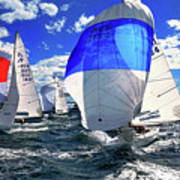 Spinnakers And Sails By Kaye Menner Art Print
