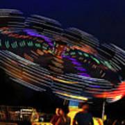 Spinning Lights Art Print