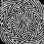 Spinning Optical Illusion Maze Art Print