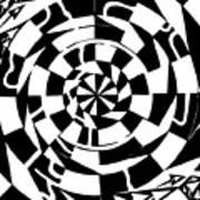Spinning Tunnel Maze Art Print