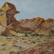Spinx In The Valley Of Fire Art Print
