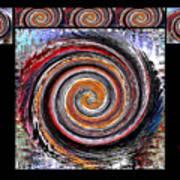 Spiral Frenzy Poster Art Print