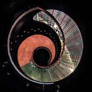 Spiral Glass Stairs Art Print