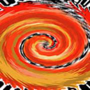 Spiral Of Fire Art Print