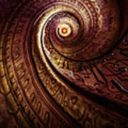 Spiral Staircase In An Old Abby Art Print