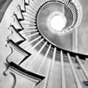 Spiral Staircase Lowndes Grove  Art Print by Dustin K Ryan