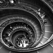 Spiral Stairs Horizontal Art Print