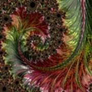 Spiralling Fractal One Art Print