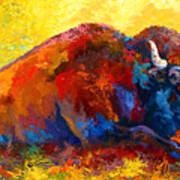 Spirit Brother - Bison Art Print by Marion Rose