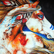 Spirit Indian War Horse Print by Marcia Baldwin