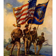 Spirit Of 1917 - Join The Us Marines  Art Print