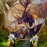 Spirit Of The Moose Art Print