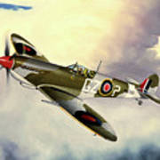 Spitfire Art Print by Marc Stewart