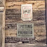 Spitting Prohibited Art Print