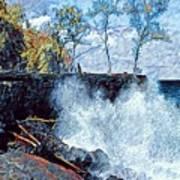 Splash At Mackenzie Art Print