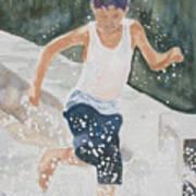 Splash Dance Art Print