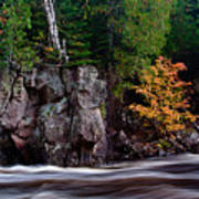 Splash Of Fall Color Art Print