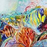 Splash Of Life #14 Red Sea  Art Print