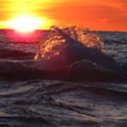 Splash - Sunset On Lake Huron Art Print
