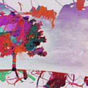 Splash Tree Art  Art Print