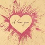 Splattered Love Art Print