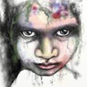 Splattered Stare Art Print
