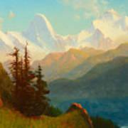 Splendor Of The Grand Tetons - Wyoming Territory Art Print