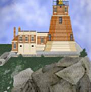 Split Rock Lighthouse On The Great Lakes Art Print