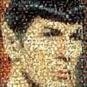Spock Star Trek Mosaic Art Print by Paul Van Scott