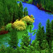 Spokane River Blues Art Print