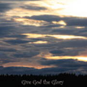 Spokane Sunset - Give God The Glory Art Print