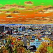 Spokane Washington Earth Art Print