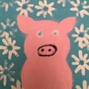 Sponge Pig Art Print