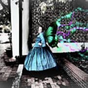 Spooky Historic Butterfly Dahlonega  Art Print