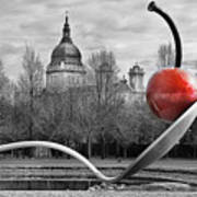 Spoon And Cherry Art Print