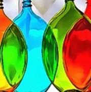 Spoon Bottles-rainbow Theme Art Print