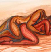 Spooning Print by Aurora Jenson