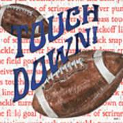 Sports Fan Football Art Print