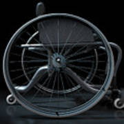 Sports Wheelchair Art Print
