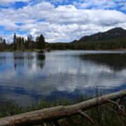 Sprague Lake Cloud Reflection Art Print