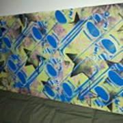 Spray Stars Art Print