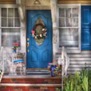 Spring - Door -  A Bit Of Blue  Art Print